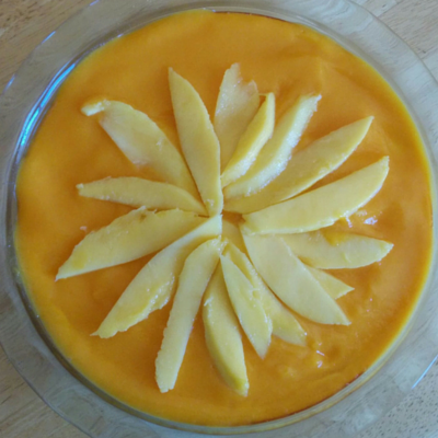 Greek Yogurt Mango Cheesecake_Top