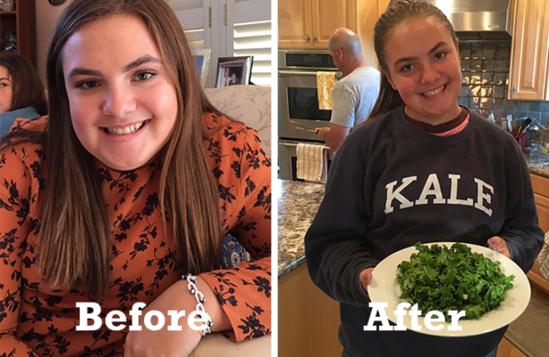 Teen Weight Loss Success Story: 8 lbs lighter, Lila blossoms and is ready to take on high school with confidence**