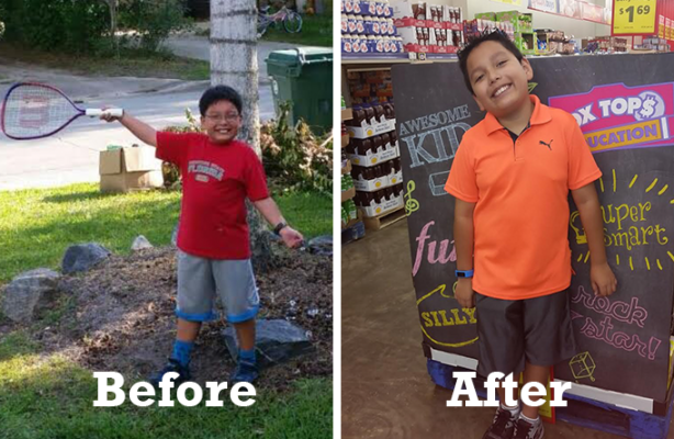"""Child Weight Loss Success Story: 7 pounds lighter, Michael has transformed from """"TV junkie"""" to an Honor Student and family role model**"""
