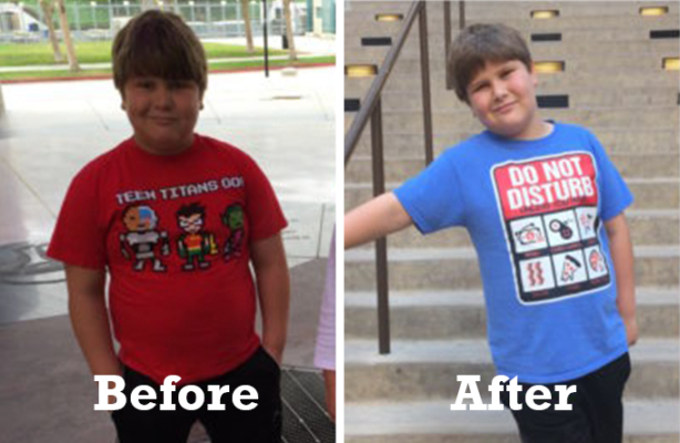Child Weight Loss Success Story: Christopher is lighter and happier after coaching and helped his mom lose a significant amount of weight, too!**