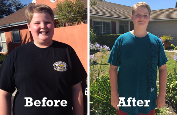 Xander, age 13, sheds 21 pounds and gains energy and confidence**